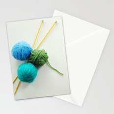 Knitting in threes Stationery Cards
