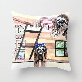 Peek into a treehouse Throw Pillow