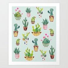 Cactus Pot Personalities Art Print