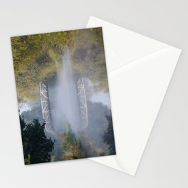Canal bridge in the mist Stationery Cards
