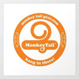 Monkey Tail Gear Logo - 002 Orange Art Print