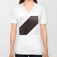 wood V-neck T-shirts featuring wood by ONEDAY+GRAPHIC