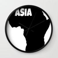 asia Wall Clocks featuring ASIA by AnacondaOnline.eu
