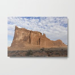 Desert Sunrise, Arches National Park, Courthouse District Metal Print
