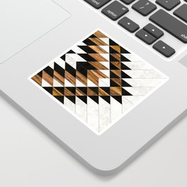 Urban Tribal Pattern No.9 - Aztec - Concrete and Wood Sticker