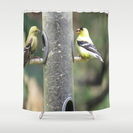 Dungeoness, Railroad Park, Goldfinches Shower Curtain