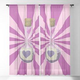 Love Potion Sheer Curtain