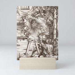 "Albrecht Dürer ""Saint John devouring the Book, from: The Apocalypse"" Mini Art Print"