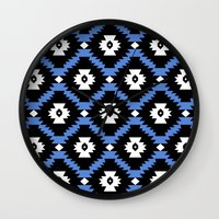 navajo Wall Clocks featuring Navajo by Emma Mazur