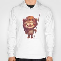 ewok Hoodies featuring Wicket the ewok by Myev
