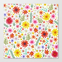 teeny floral pattern Canvas Print