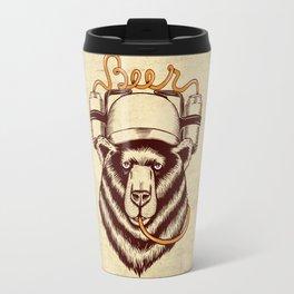 Bear and beer Travel Mug