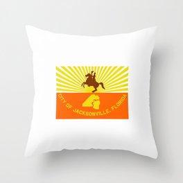 flag of Jacksonville Throw Pillow