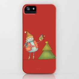 Friends keep warm - red iPhone Case