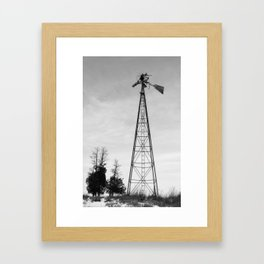 Twisted Windmill Framed Art Print
