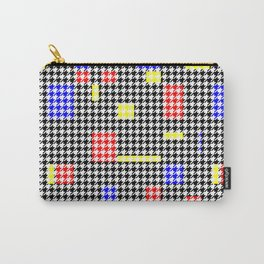 Houndstooth Abstract Black and Colours Modern Art Pattern Carry-All Pouch