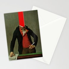 The red stripe in the head and the cigarette in the hand Stationery Cards