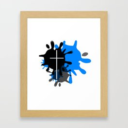 Cross Splash (Blue) Framed Art Print