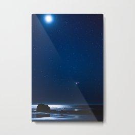Venus & Mars Conjunction on The Oregon Coast Metal Print