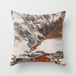 Small Village in Georgia Throw Pillow