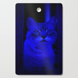 Kitty in Blue Light Cutting Board