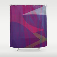 reassurance Shower Curtains featuring Feel the texture II by Magdalena Hristova