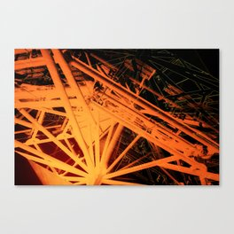 Roof Strut Abstract in Orange Canvas Print