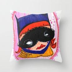 Batgirl in Love Throw Pillow