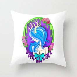 Deer-ly Departed Throw Pillow