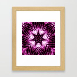 Bright Dark Violet Wine Red Abstract Blossom #purple #kaleidoscope Framed Art Print