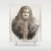 fili Shower Curtains featuring Fili  by AlyTheKitten