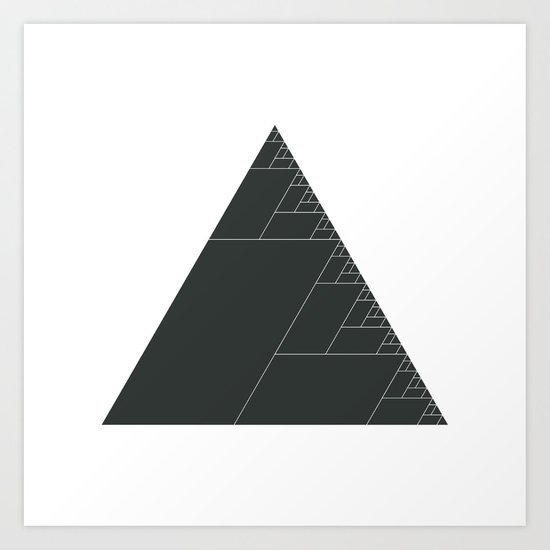 #399 Ashes of the triangle – Geometry Daily Art Print