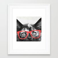 sassy Framed Art Prints featuring Sassy Kitten by Allyson Johnson