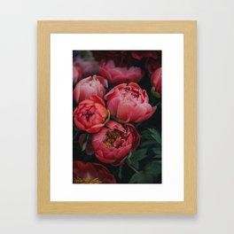 peonies #society6 #decor #buyart Framed Art Print