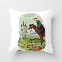prince Throw Pillows featuring Prince by David Pavon