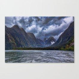 Milford Sound, South Island, New Zealand Canvas Print