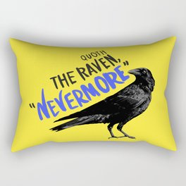 Nevermore Raven - Yellow Rectangular Pillow