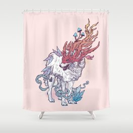 Spirit Animal - Wolf Shower Curtain