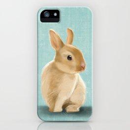 Portrait of a little bunny iPhone Case