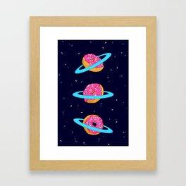 Sugar rings of Saturn Framed Art Print