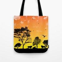 safari Tote Bags featuring Safari by Kaitlynn Marie