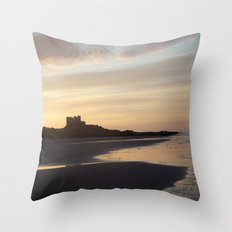 Bamburgh Sunset Throw Pillow