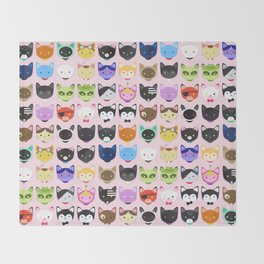 Love character cats Throw Blanket