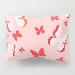 Cut out paper butterfly Pillow Sham