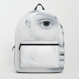 Gorgeous Fairytale White Peace Bird Lady UHD Backpack