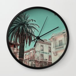 Lincoln Hotel by Lika Ramati Wall Clock