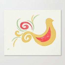 Golden Bird Canvas Print