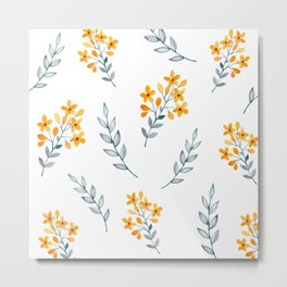 Yellow Flower Obsession Metal Print