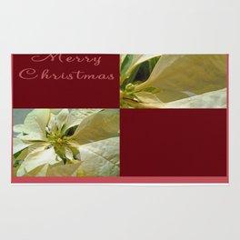 Pale Yellow Poinsettia 1 Merry Christmas Q10F1 Rug