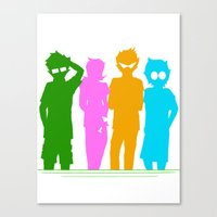 homestuck Canvas Prints featuring Homestuck Alpha Kids by Crimsonreaper67